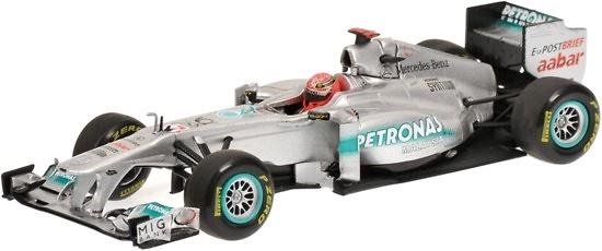 Mercedes W02 nº 7 Michael Schumacher (2011) Minichamps 410110007 1/43
