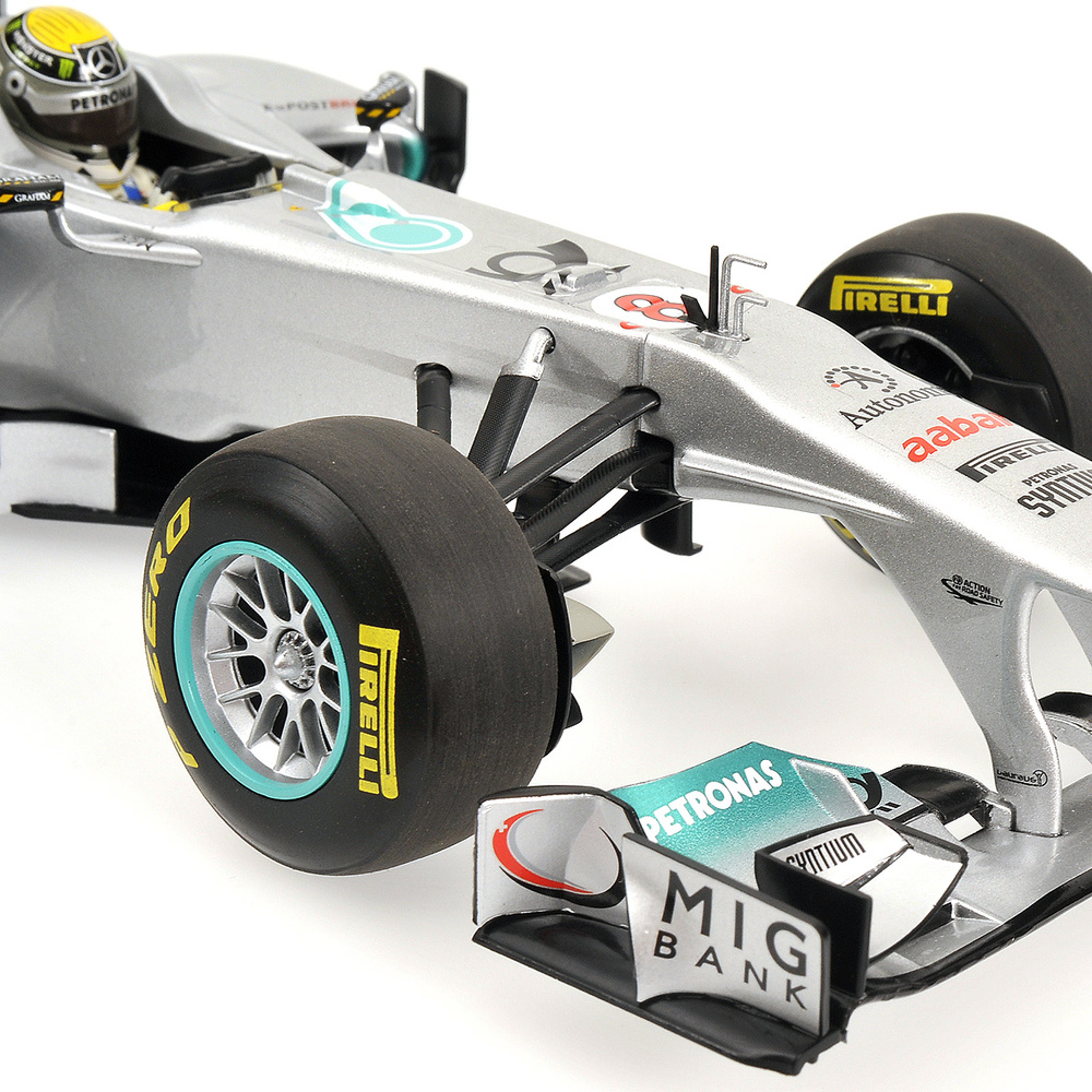 Mercedes W02 nº 8 Nico Rosberg (2011) Minichamps 110110008 1/18
