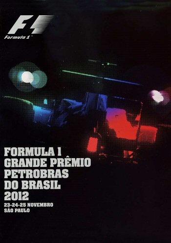 Poster del GP. F1 de Brasil de 2012