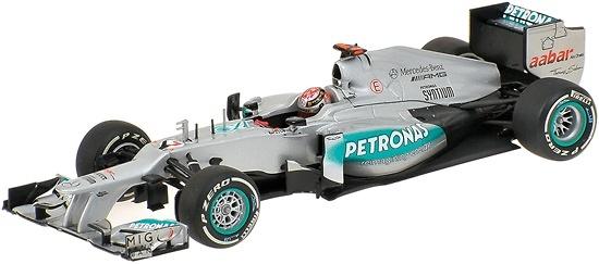 Mercedes W03 GP. Bélgica nº 7 Michael Schumacher (2012) Minichamps 410120307 1:43