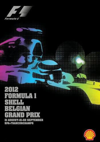 Poster del GP. de Bélgica de 2012