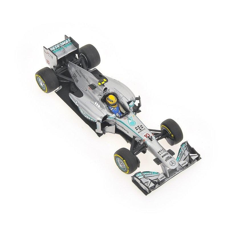 Mercedes W04 nº 10 Lewis Hamilton (2013) Minichamps 410130010 1:43