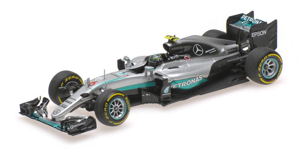 Mercedes W07 nº 6 Nico Rosberg (2016) Minichamps 410160706 1:43