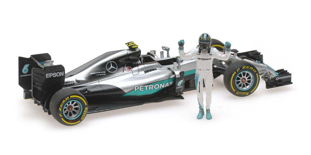 Mercedes W07 nº 6 Nico Rosberg con figura (2016) Minichamps 1:43