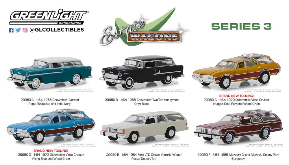 Estate Wagons Series 3 Greenlight 29950 1/64