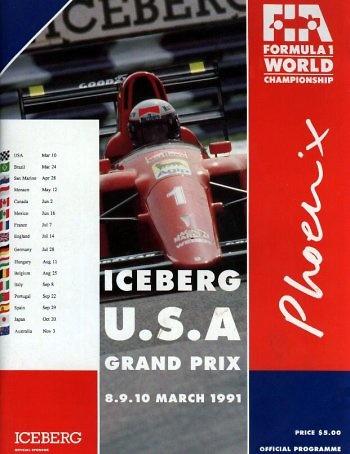 Poster GP. F1 USA de 1991