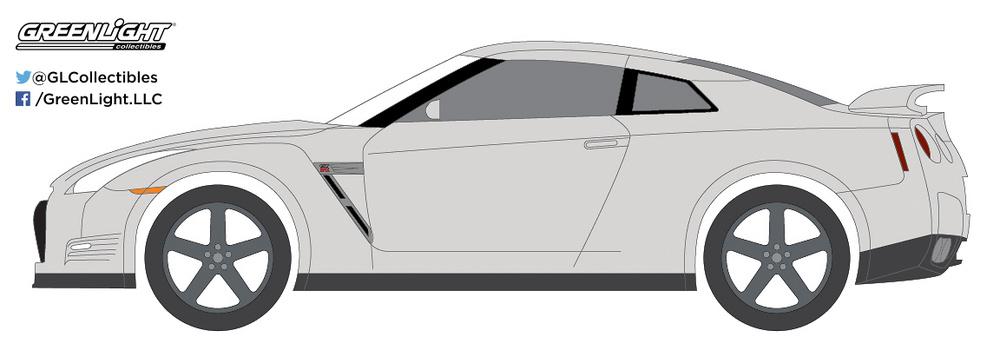 Nissan GT-R -R35- (2014) Greenlight 29880F 1/64