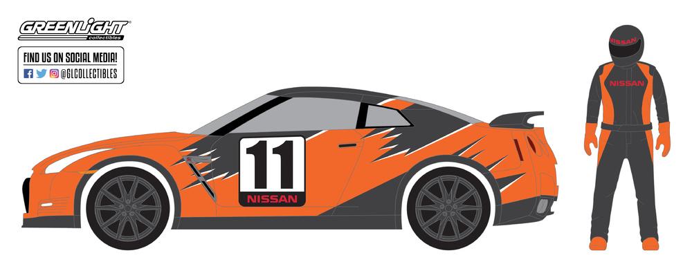 Nissan GT-R -R35- con figura (2011) Greenlight 97030E 1/64