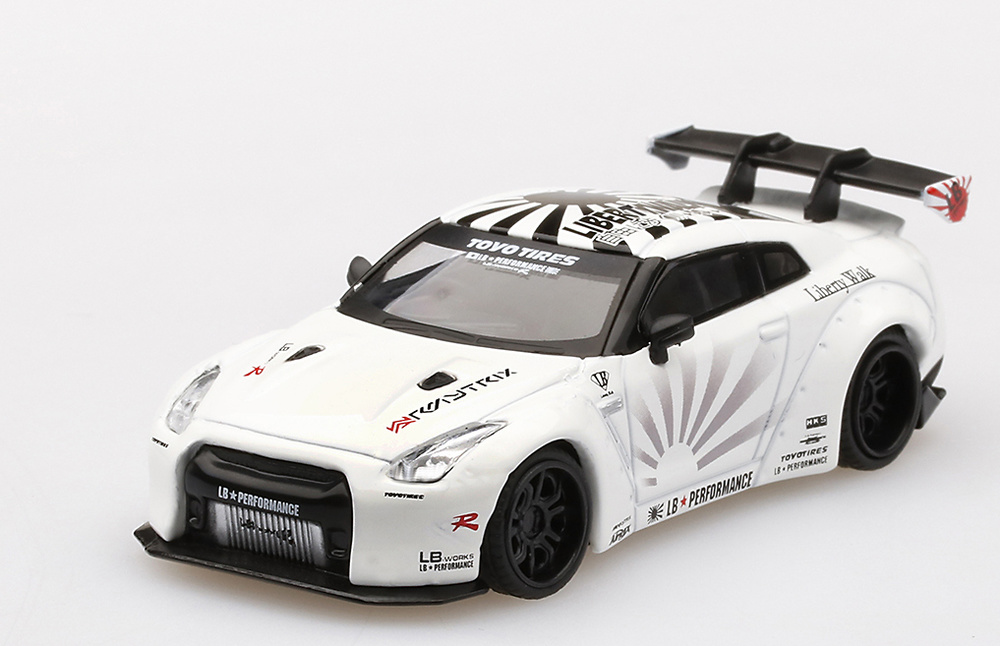 Nissan LB Works GT-R R35 Type1 Rear Wing Version 1+2 TSM Model MGT00064-L 1:64