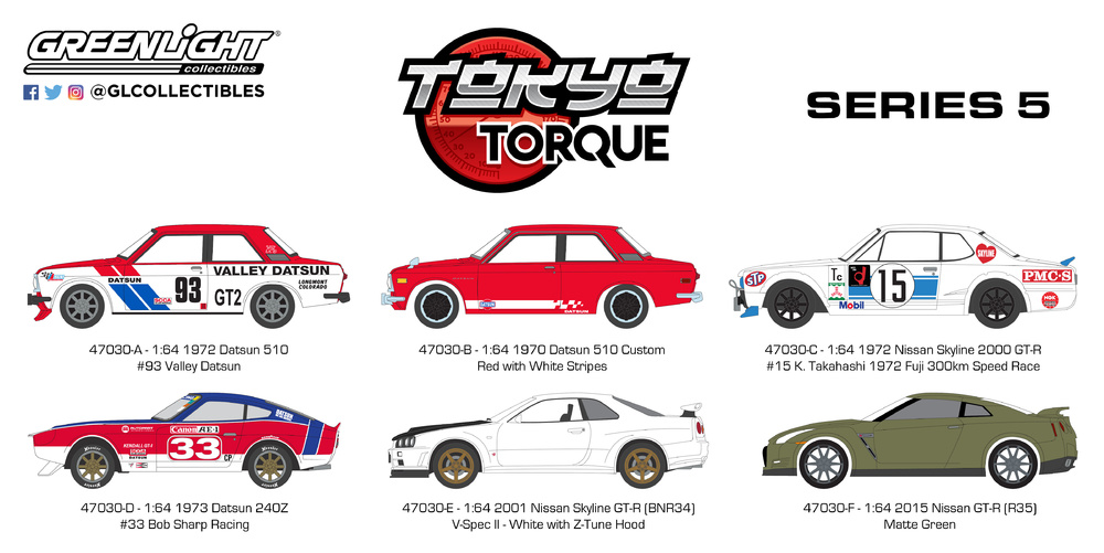 Tokyo Torque serie 5 Greenlight 47030 1/64