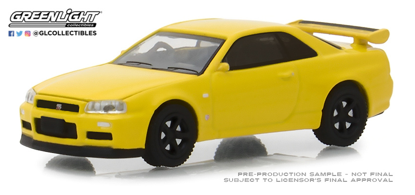 Nissan Skyline GT-R -BNR34- (2001) Greenlight 47020F 1/64