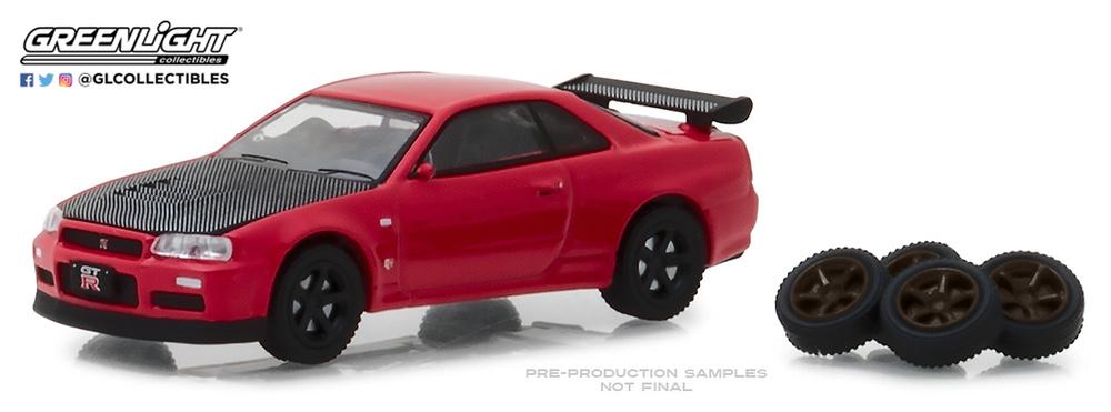 Nissan GT-R con piloto de carreras 2011 hobby Shop GreenLight 1:64 OVP nuevo