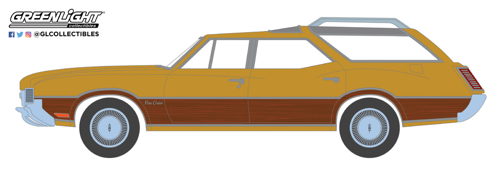 29950-C 1:64 Estate Wagons Series 3 - 1970 Oldsmobile Vista Cruiser - Nugget Gold Poly and Wood Grain Solid Pack