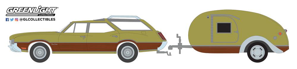 Oldsmobile Vista Cruiser con Remolque (1971) Greenlight 32170A 1/64