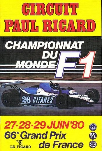 Poster del GP. F1 de Francia de 1980
