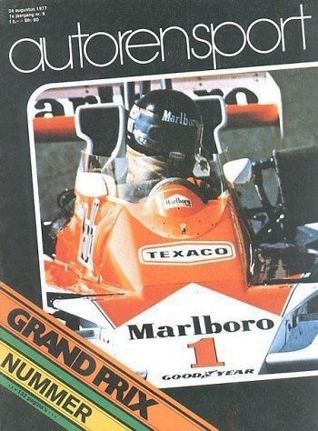 Poster del GP. F1 de Holanda de 1977