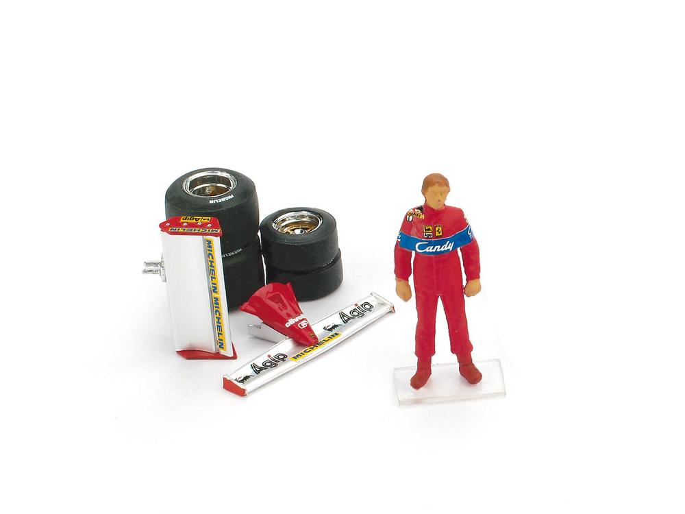Piloto Didier Pironi + Alerones + Juego de Neumáticos (1981) Brumm CH02T 1/43