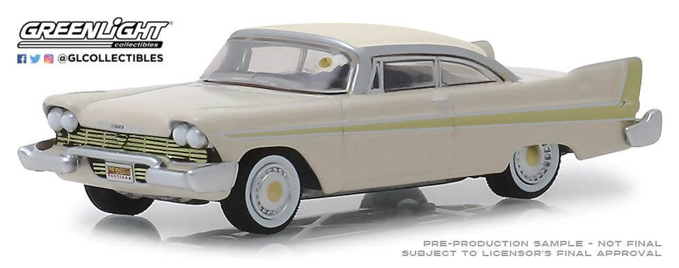 Plymouth Fury Golden Beige (Kissimmee) 1958 Greenlight 37170B 1/64