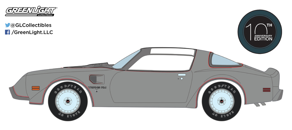 Pontiac Firebird Trans Am 10º aniversario (1979) Greenlight 27940D 1/64
