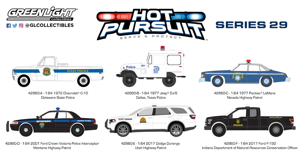 Hot Pursuit Serie 29 (2018) Greenlight 42860 1/64