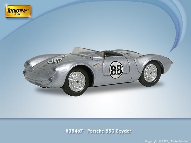 Porsche 550 Spyder nº 88 (1953) Ricko 9838467 1/87