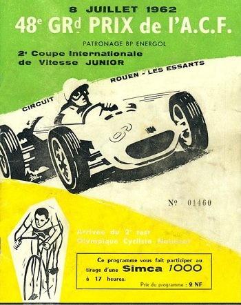 Poster GP. F1 de Francia de 1962