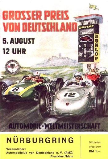 Poster del GP. F1 de Francia de 1962