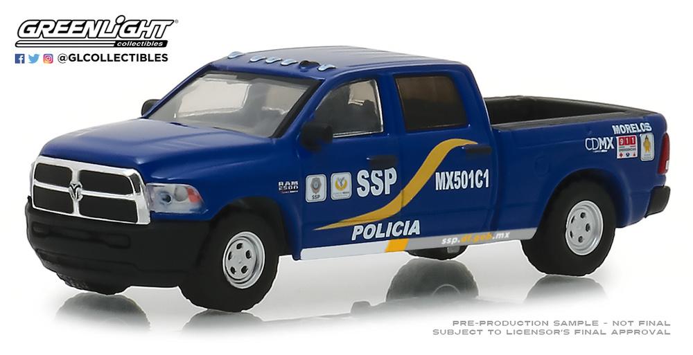 42870-F 1:64 Hot Pursuit Series 30 - 2017 Ram 2500 - Mexico City, Mexico Policia