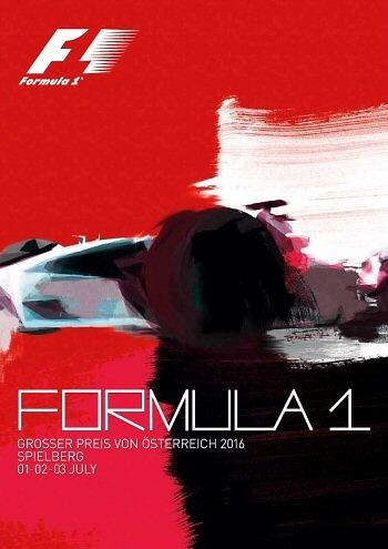 Poster GP. F1 de Austria de 2016