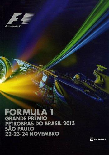 Poster GP. F1 Brasil 2013