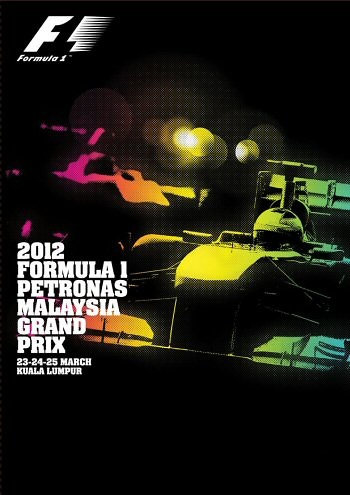 Poster del GP. F1 de Malasia de 2012