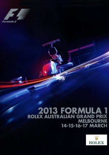 Poster del GP. F1 de Australia de 2013