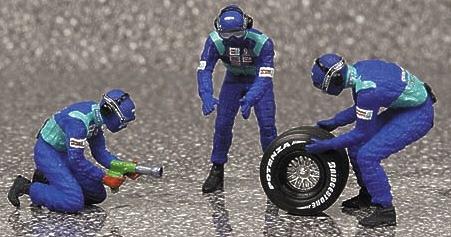 Sauber Pitstop Cambio Neumáticos traseros (2002) Minichamps 343100033 1/43
