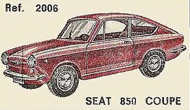 Seat 850 Coupé Nacoral 2006 1/43
