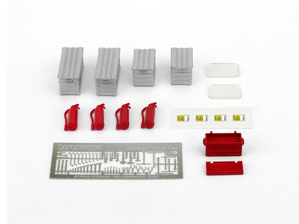 Set Cajas Herramientas y Extintores (1982) Brumm F093 1:43