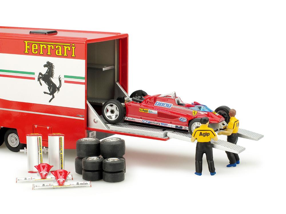 Set Fiat 170 + Ferrari 126CK + Figuras Gilles Villeneuve y Didier Pironi