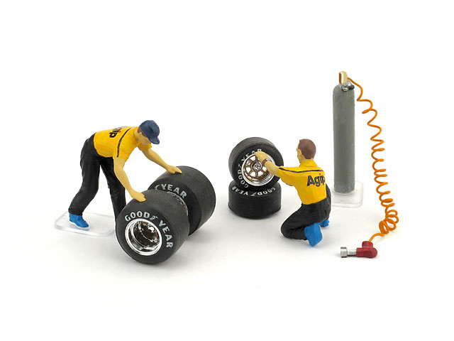 Set Figuras cambio neumáticos (1982) Brumm F091 1:43