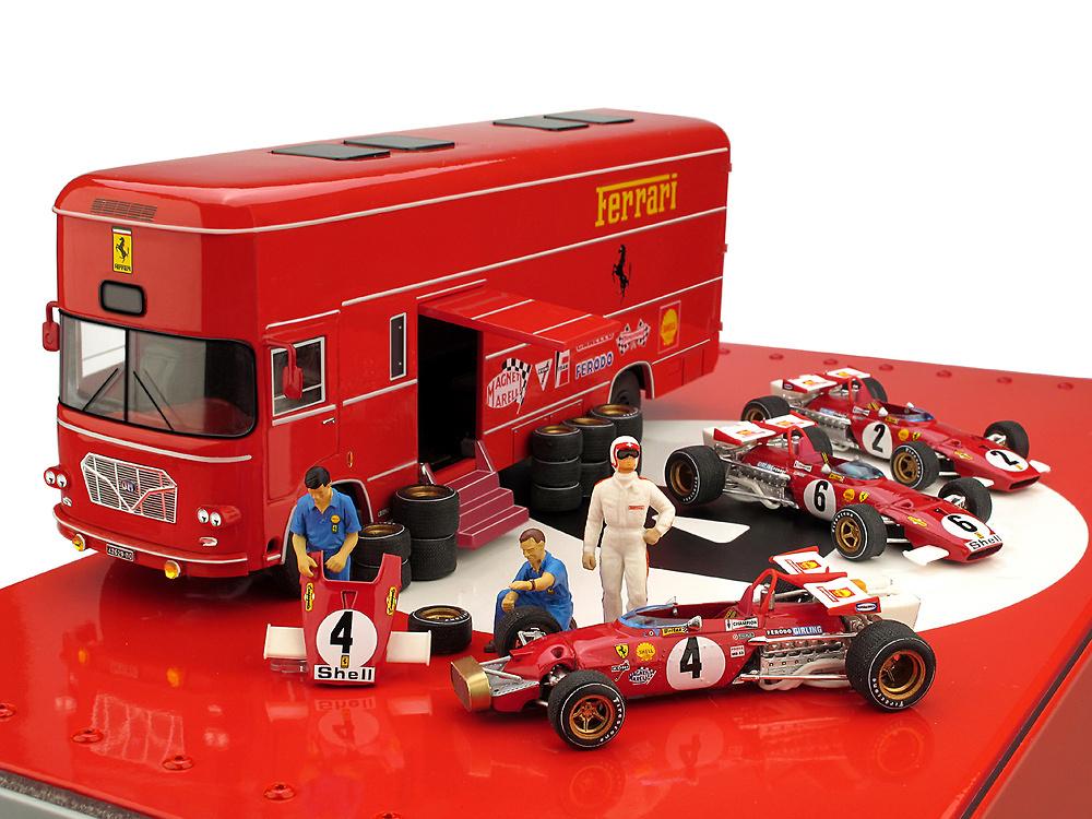 Set Transporte OM 160 Rolfo Escuderia Ferrari + 3 Ferrari 312B