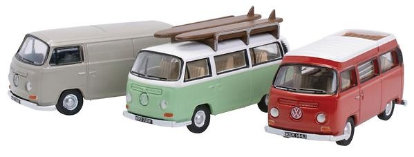Seta de 3 Volkswagen T2 (1974) Oxford 76SET35A 1/76