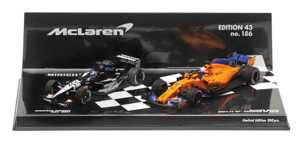 Set de Minardi PS01 (2001) y McLaren MCL33
