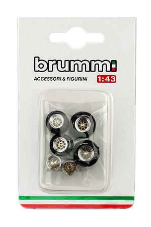 Set de neumáticos y llantas (1982) Brumm F099 1:43