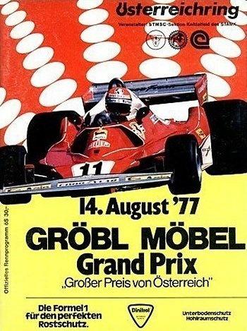 Poster del GP. fe de Austria de 1977