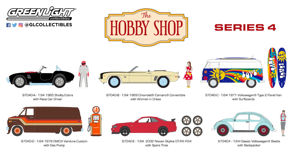 The Hobby Shop series 4 Greenlight 97040 1/64