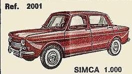 Simca 1000 Nacoral 2001 1/43