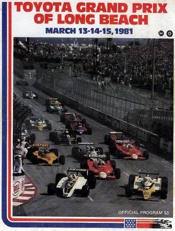 Poster GP. F1 Long Beach 1981