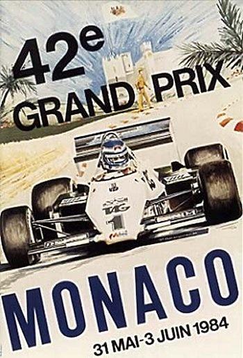 Poster GP. F1 Mónaco 1984