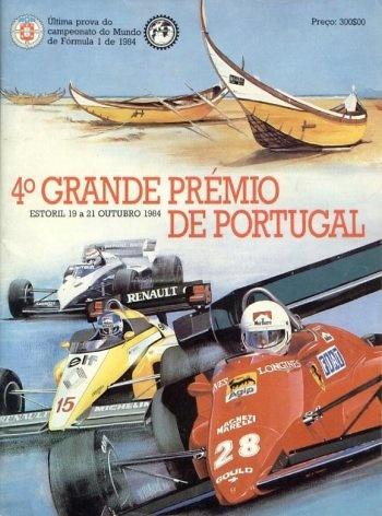 Poster GP. F1 Portugal 1984