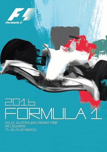 Poster GP. F1 Australia 2016