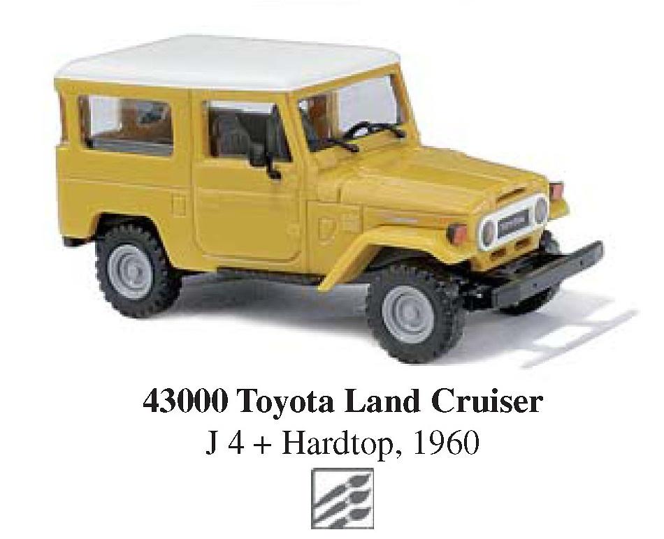 toyota land cruiser j4 1960 busch 43000 1 87. Black Bedroom Furniture Sets. Home Design Ideas