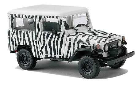 toyota land cruiser j4 1960 cebra busch 1 87 men. Black Bedroom Furniture Sets. Home Design Ideas